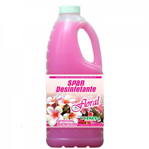 SPAN DESINFETANTE FLORAL 0002L - preço por litro:R$4.05
